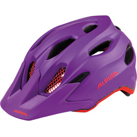 Alpina Carapax Jr. Helmet purple-neon red